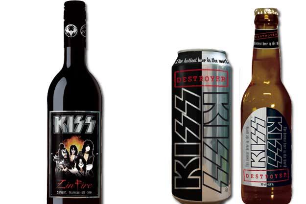 Kiss bier en wijn