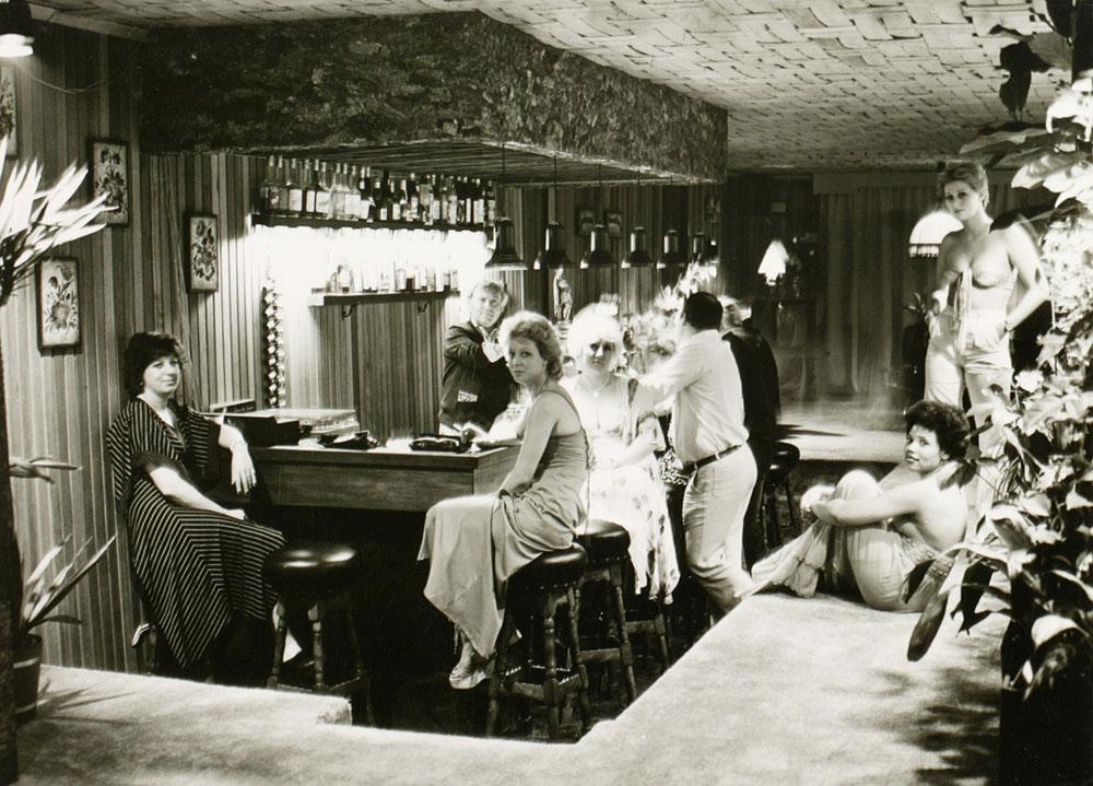 de bar van Kasteel Meerwijk in 1978. (Foto: Stadsarchief 's-Hertogenbosch)