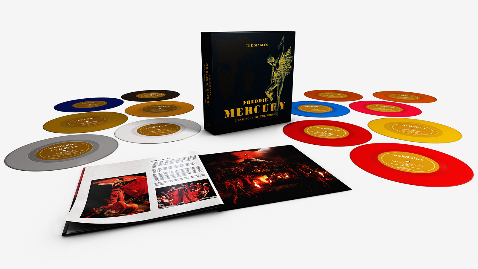 Freddie Mercury Messenger Of The Gods The Singles Exploded Product Shot White