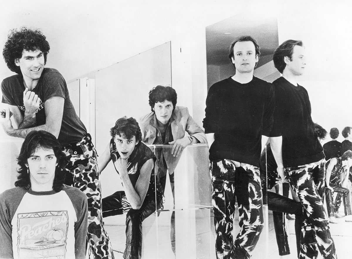 Golden Earring anno 1978. Met van links naar rechts George Kooymans, Rinus Gerritsen, George Kooymans, Barry Hay en Eelco Gelling.