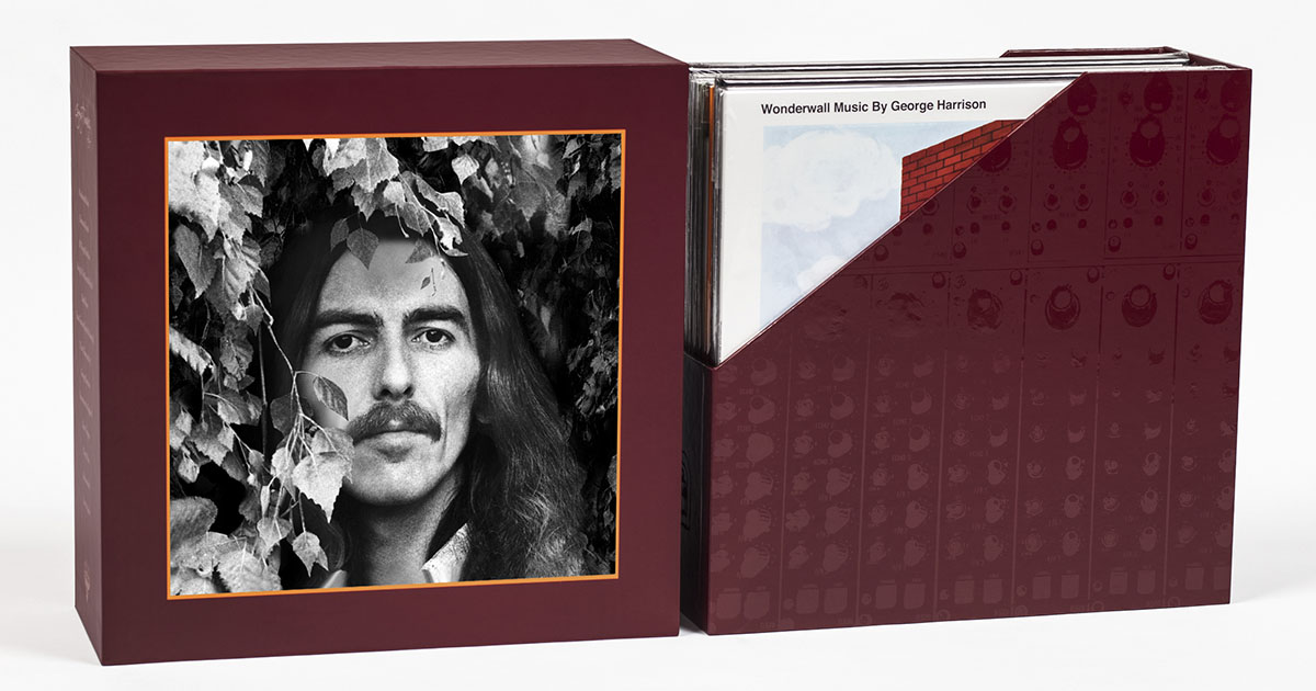 smThe George Harrison Vinyl Collection Box Open Full